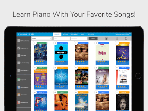 Piano Marvel Music Library